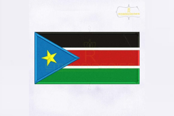 South Sudan Flag Africa Embroidery Design By RoyalEmbroideries