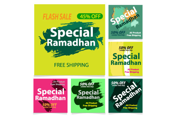 Download Free Special Ramadan Banner Design Template Graphic By Koes Design for Cricut Explore, Silhouette and other cutting machines.