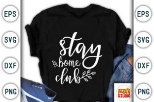 Print on Demand: Stay Home Club, Quarantine Design Graphic Print Templates By CraftStudio