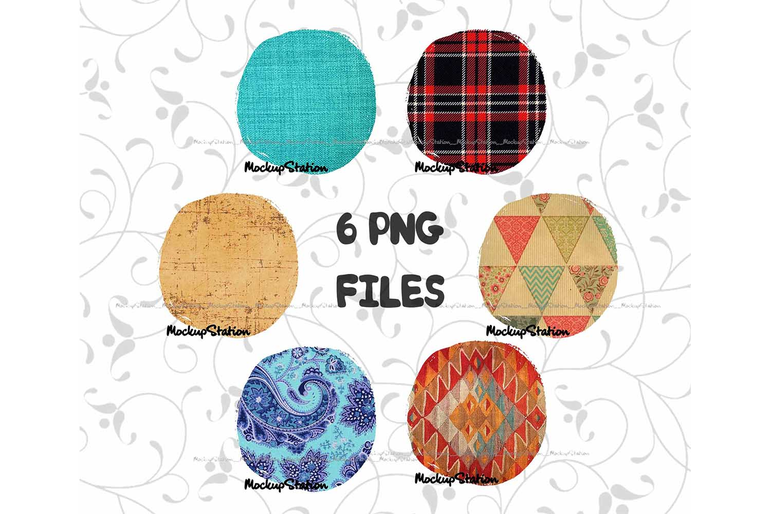Download Free Sublimation Circle Background Bundle Graphic By Mockup Station for Cricut Explore, Silhouette and other cutting machines.