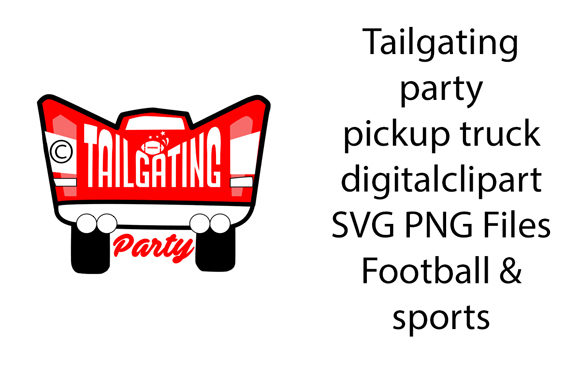 Download Free Tailgating Party Pickup Truck Football Graphic By A Design In for Cricut Explore, Silhouette and other cutting machines.