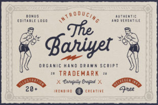 Download Free The Bariyet Font By Ironbirdcreative Creative Fabrica for Cricut Explore, Silhouette and other cutting machines.