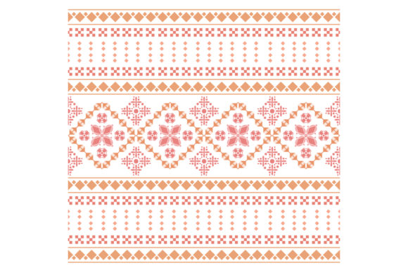 The Art Style of Beautiful Embroidery Graphic Backgrounds By stockfloral