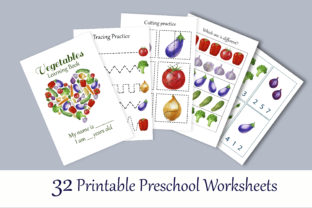 Print on Demand: Toddler Vegetables Learning Workbook Graphic Teaching Materials By s.yanyeva