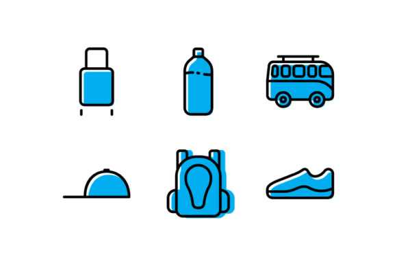 Download Free Travel Icon Colors Graphic By Iconomic Str Creative Fabrica for Cricut Explore, Silhouette and other cutting machines.