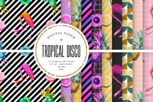 Print on Demand: Tropical Disco Seamless Patterns Graphic Patterns By Sabina Leja