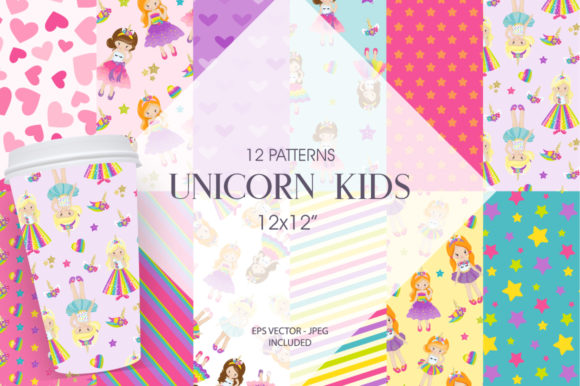 Print on Demand: Unicorn Kids Gráfico Moldes Por Prettygrafik
