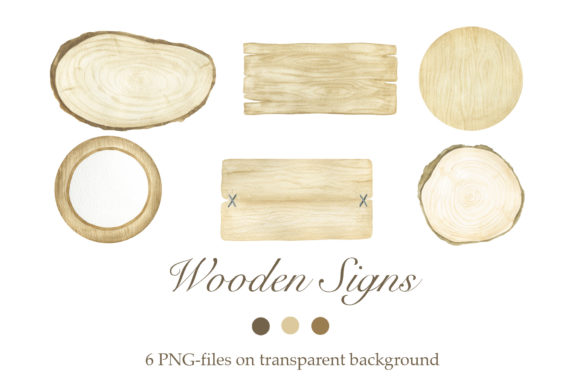 Download Free Watercolor Wooden Signs Graphic By Tpushnaya Creative Fabrica for Cricut Explore, Silhouette and other cutting machines.