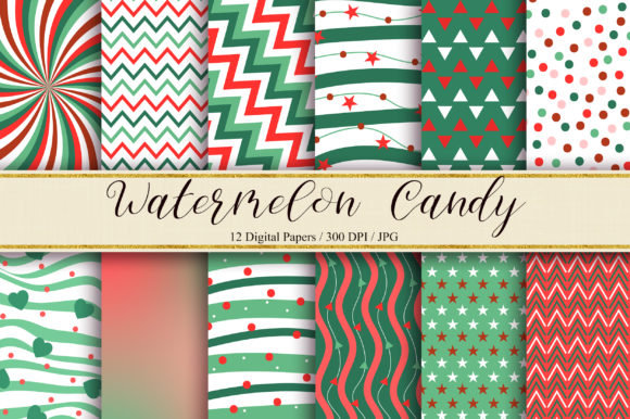Watermelon Candy Background Graphic Backgrounds By PinkPearly