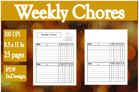 Print on Demand: Weekly Chores / Planner Graphic KDP Interiors By Ivana Prue