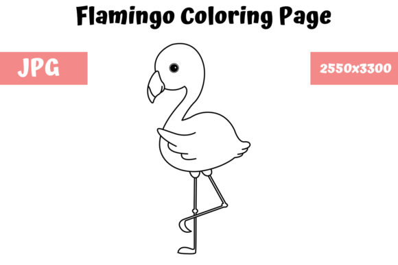 Print on Demand: Flamingo Coloring Page for Kids Graphic Coloring Pages & Books Kids By MyBeautifulFiles
