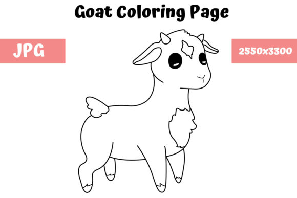 Print on Demand: Goat Coloring Page for Kids Graphic Coloring Pages & Books Kids By MyBeautifulFiles