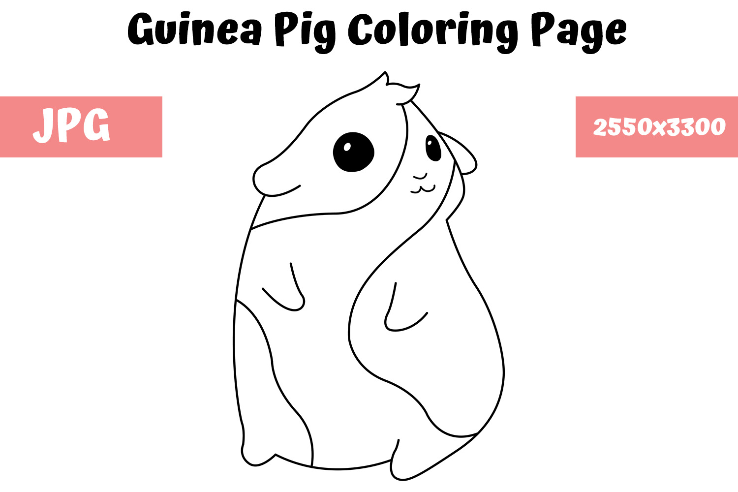 Guinea Pig coloring page - Animals Town - animals color sheet ... | 1000x1500