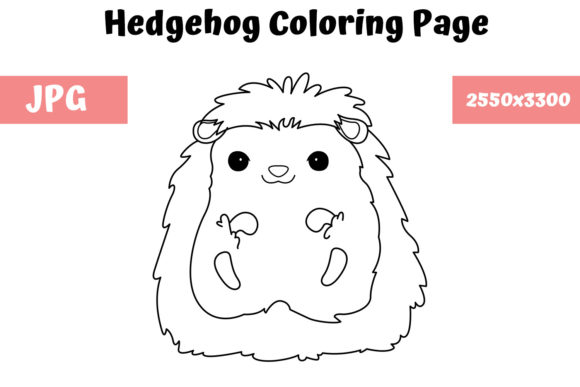 Print on Demand: Hedgehog Coloring Page for Kids Graphic Coloring Pages & Books Kids By MyBeautifulFiles