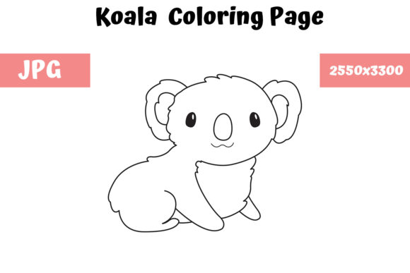 Print on Demand: Koala Coloring Book Page for Kids Graphic Coloring Pages & Books Kids By MyBeautifulFiles