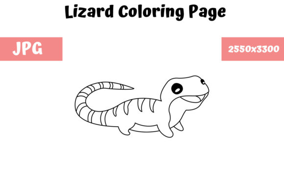 Print on Demand: Lizard Coloring Book Page for Kids Graphic Coloring Pages & Books Kids By MyBeautifulFiles