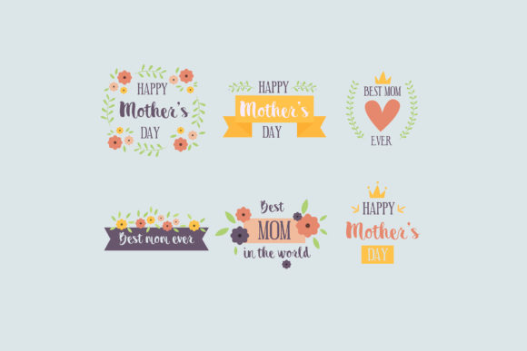 Download Free Mothers Day Badges Collection 2 Graphic By Aprlmp276 Creative SVG Cut Files