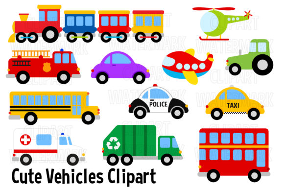 Download Free Vehicles And Transport Clipart Graphic By Magreenhouse for Cricut Explore, Silhouette and other cutting machines.