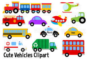 Vehicles and Transport Clipart Graphic Illustrations By magreenhouse