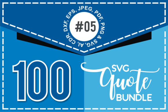 Print on Demand: 100+ SVG Cut Quote Bundle #5  By TheLucky