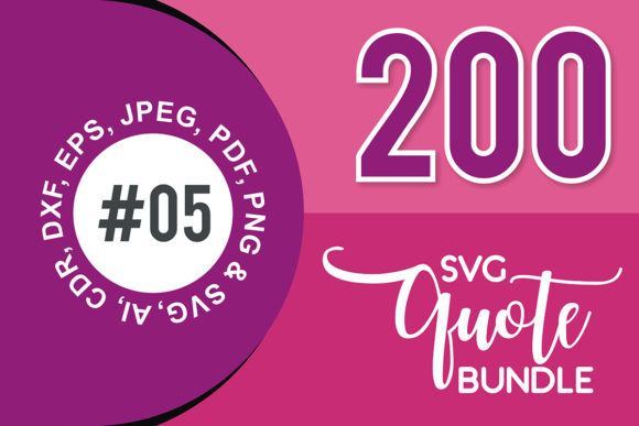 Print on Demand: 200+ SVG Cut Quote Bundle #5  By TheLucky
