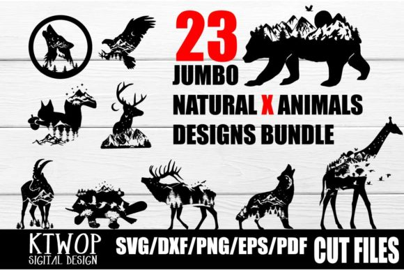 Print on Demand: 23 Nature X Animal Series Design Bundle  By KtwoP