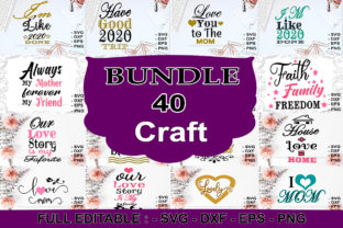 Download Free 40 Svg Craft Bundle Bundle Creative Fabrica SVG Cut Files