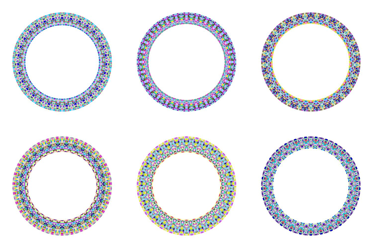 Download Free 6 Mosaic Wreaths Graphic By Davidzydd Creative Fabrica for Cricut Explore, Silhouette and other cutting machines.