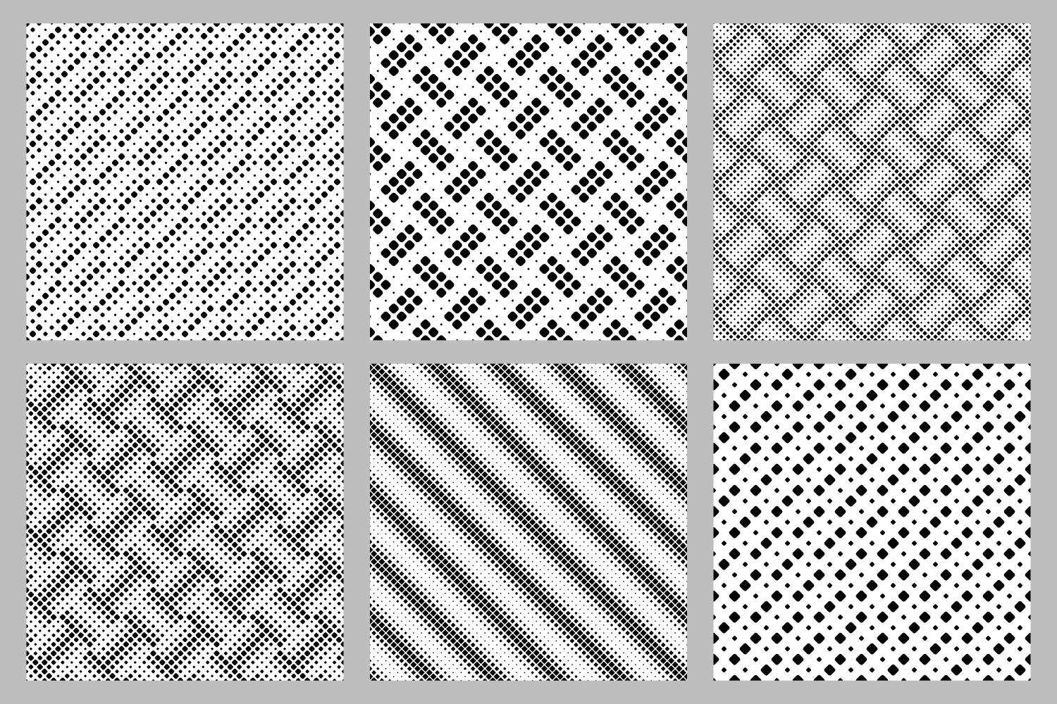 Download Free 6 Seamless Black And White Patterns Graphic By Davidzydd for Cricut Explore, Silhouette and other cutting machines.