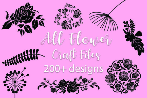 Print on Demand: All Flower Craft Bundle  By MeshaArts