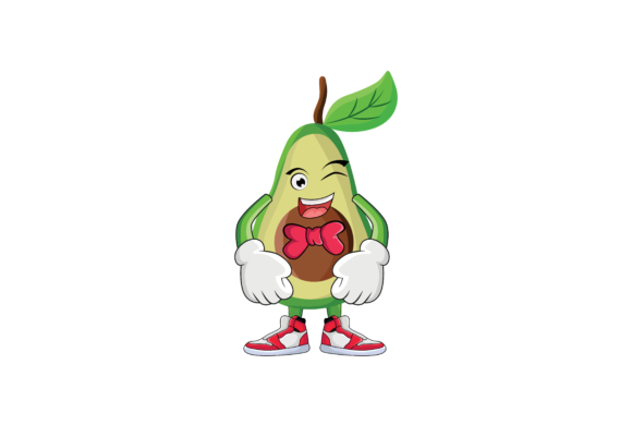 Download Free Avocado Fruit Cartoon Character Design Graphic By Printablesplazza Creative Fabrica for Cricut Explore, Silhouette and other cutting machines.