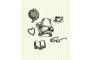 Print on Demand: Back to School, Books, Earth Globe, Cup Graphic Illustrations By firdausm601