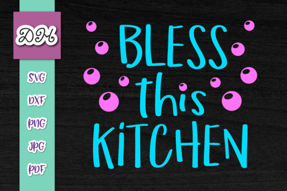 Bless This Kitchen Funny Apron Sarcastic Graphic By Digitals By Hanna Creative Fabrica