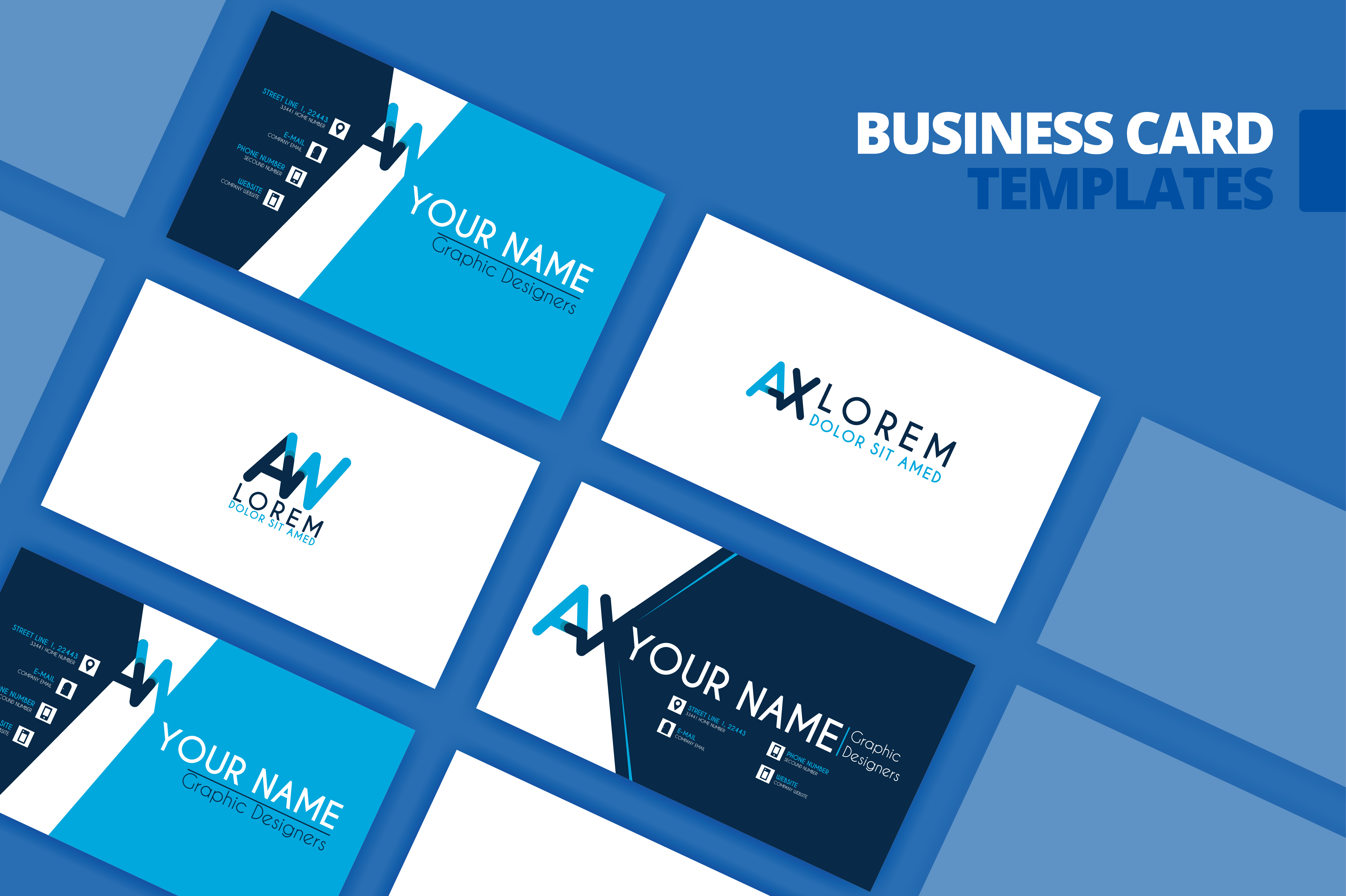 Download Free Business Card Template Design Graphic By Setiawanarief111 for Cricut Explore, Silhouette and other cutting machines.