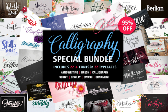 Print on Demand: Calligraphy Special Bundle  By Groens Studio