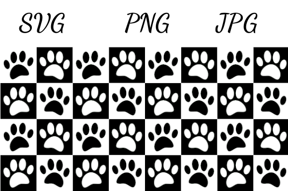 Print on Demand: Checkered Pattern Dog Paw Prints Graphic Illustrations By almdrs