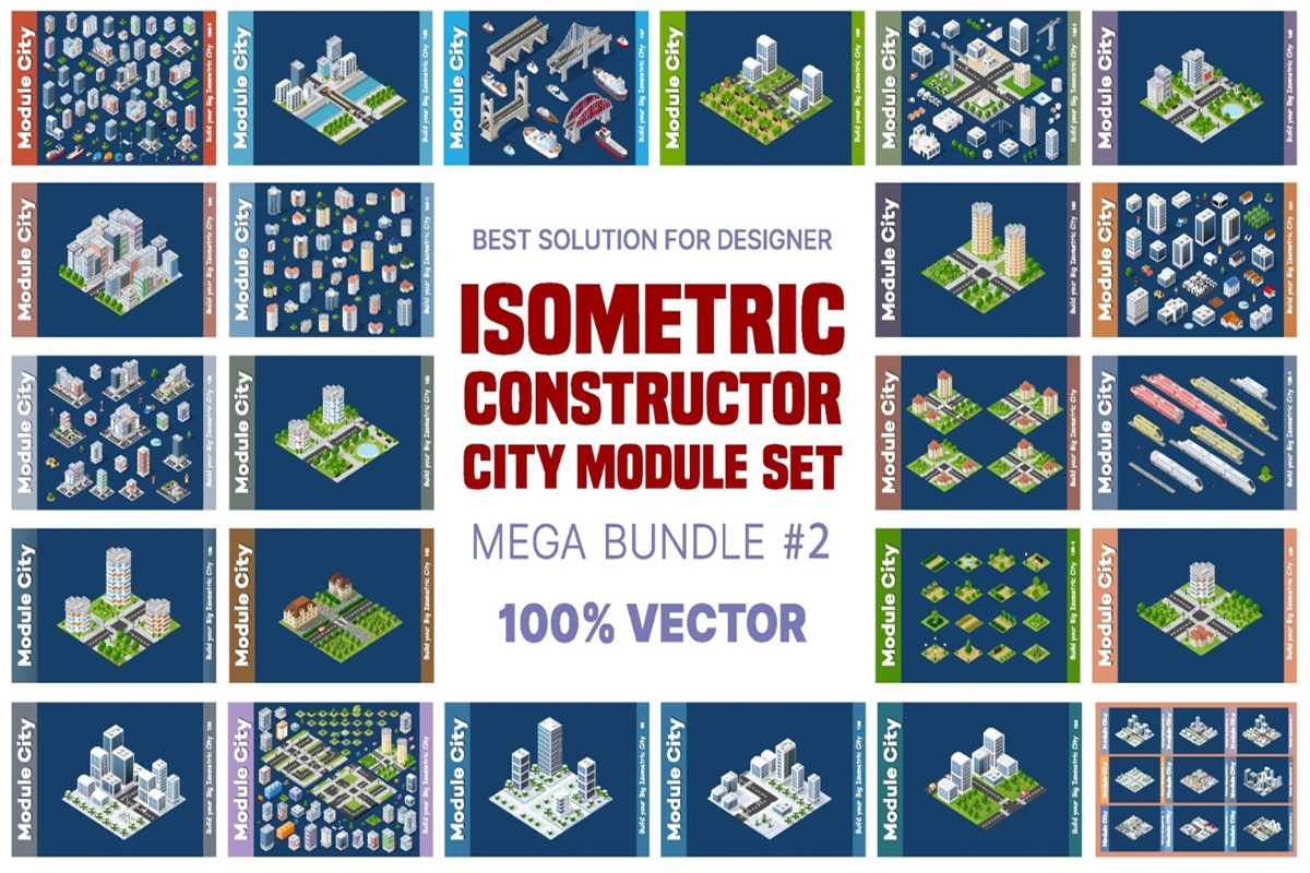 City Isometric Illustration Free Download