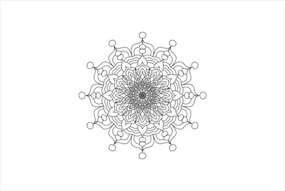 Download Free Mandala Art 0093 Graphic By Uungurukreatif Creative Fabrica for Cricut Explore, Silhouette and other cutting machines.