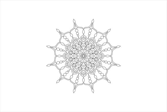 Download Free Coloring Mandala Art Book 0140 Graphic By Uungurukreatif for Cricut Explore, Silhouette and other cutting machines.