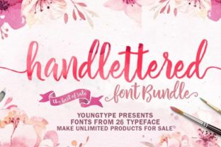Print on Demand: Hand-lettered Font Bundle Bundle By Youngtype