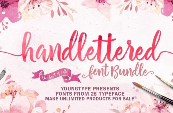 Print on Demand: Hand-lettered Font Bundle  von Youngtype
