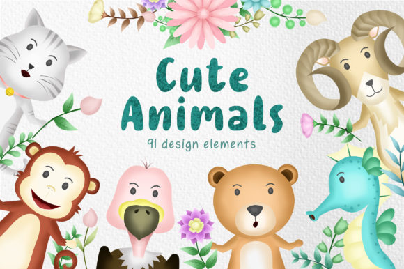 Cute Animals Part 2 Graphic Illustrations By wijayariko