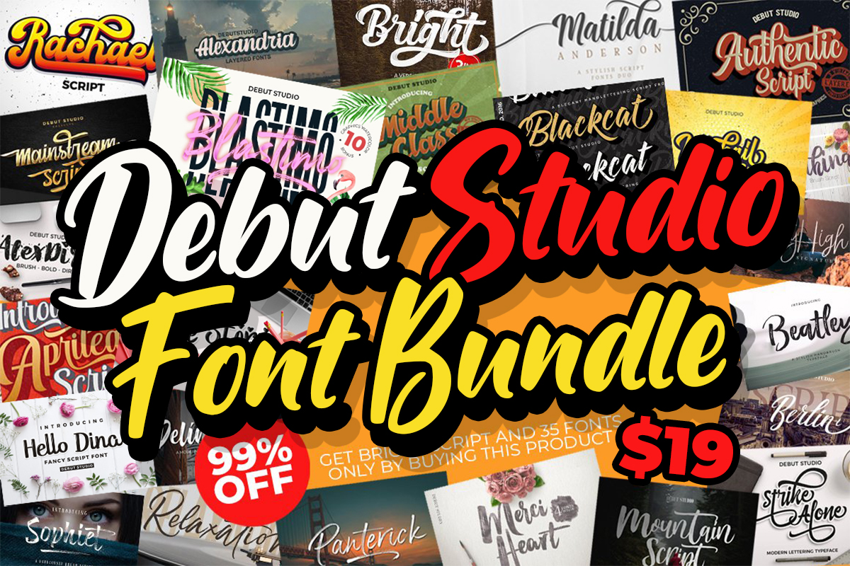 Debut Studio Font Bundle Free Download