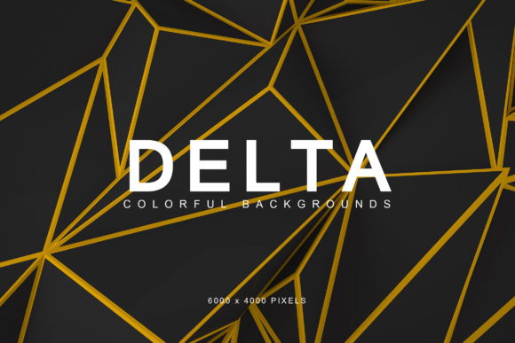 Print on Demand: Delta Colorful Backgrounds 3 Graphic Backgrounds By ArtistMef