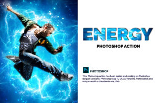 Energy Photoshop Action Graphic Actions & Presets By Creative Creator