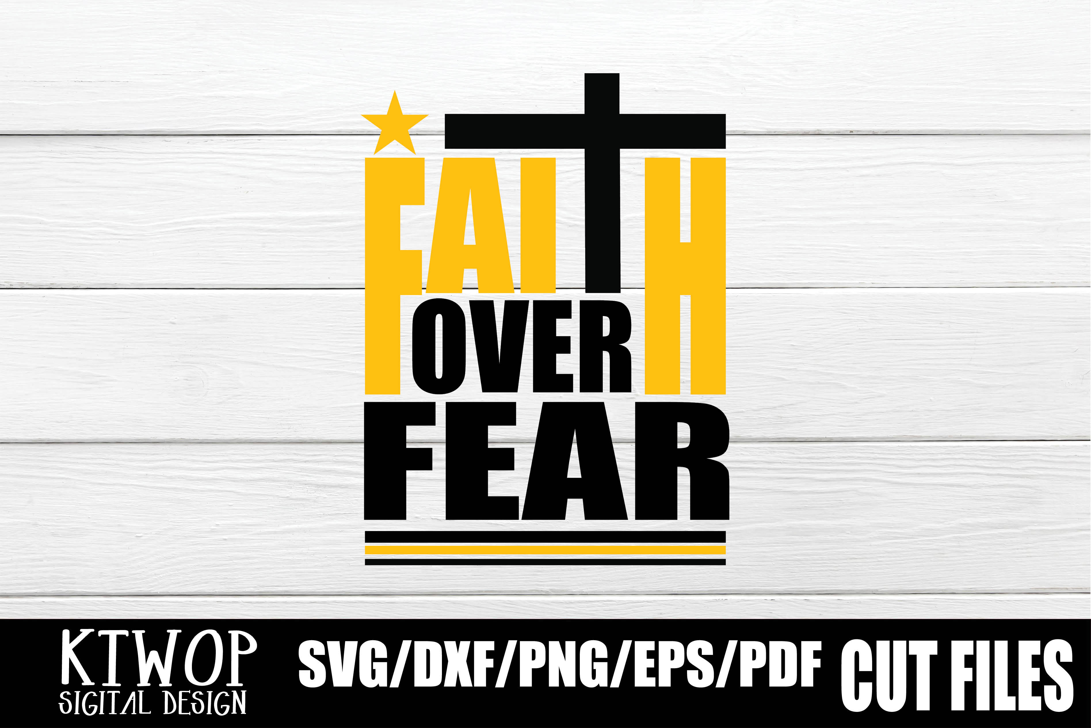 Download Free Faith Over Fear 2020 Graphic By Ktwop Creative Fabrica for Cricut Explore, Silhouette and other cutting machines.