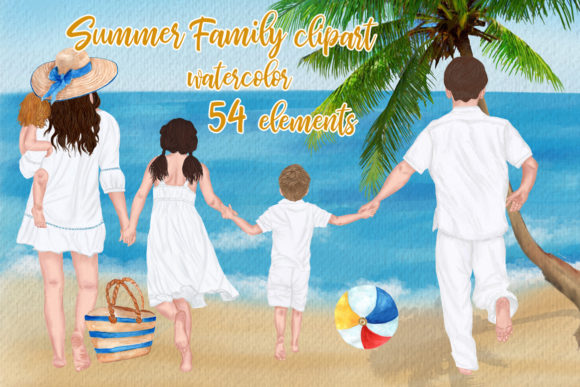 Family Clipart Mother's Day Clipart Graphic Illustrations By LeCoqDesign