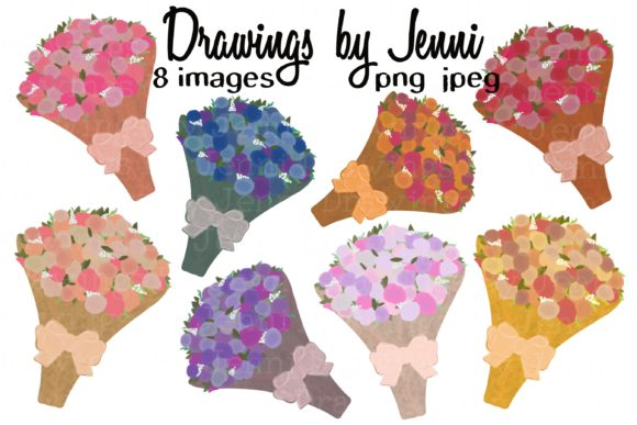 Download Free Flower Bouquet Clipart Set Sublimation Graphic By for Cricut Explore, Silhouette and other cutting machines.