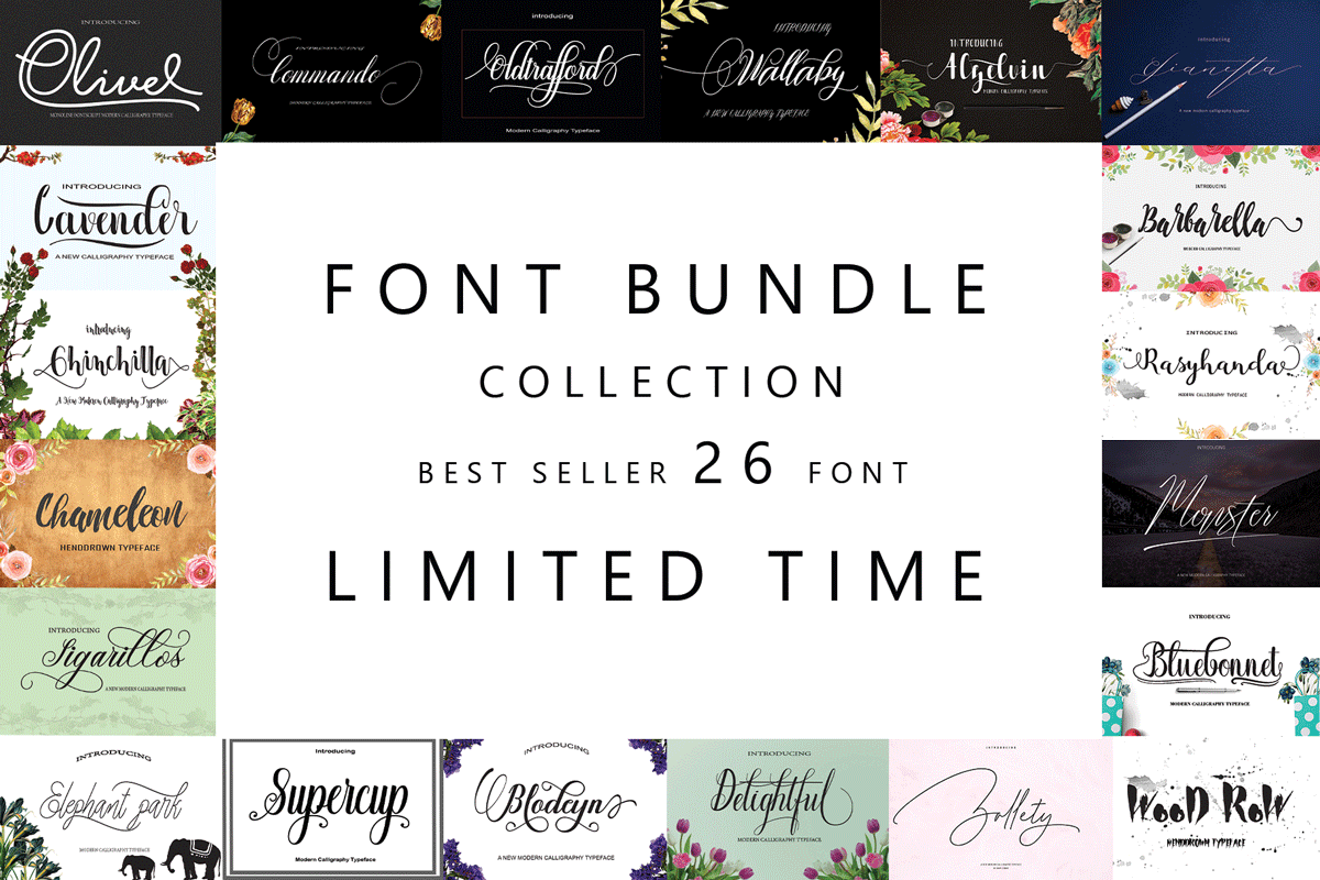 Font Bundle Collection Free Download