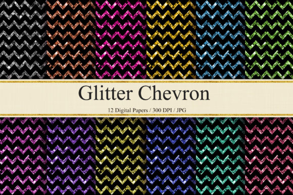 Download Free Glitter Chevron Digital Papers Graphic By Pinkpearly Creative for Cricut Explore, Silhouette and other cutting machines.